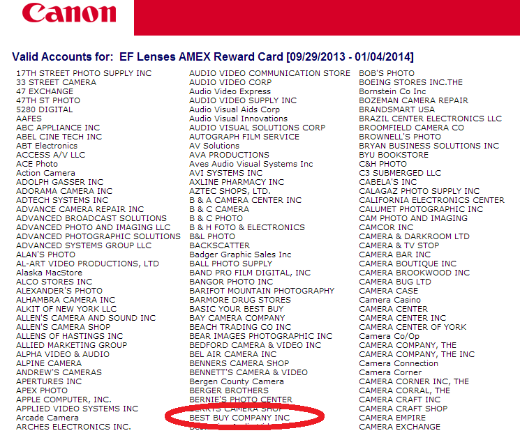 Is Best Buy Eligible for Canon Mail-in Rebate? | Canon Camera and ...